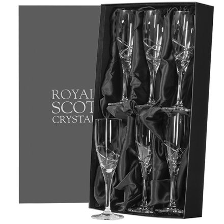 Skye - Box of 6 Champagne Flutes  (Presentation Boxed)