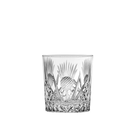 Scottish Thistle - Single Large Tumbler 95mm (Gift Boxed) | Royal Scot Crystal