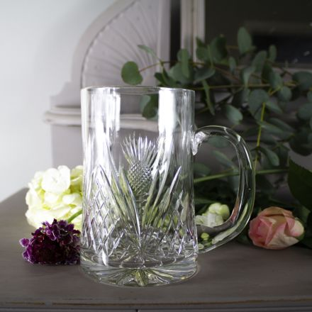 Scottish Thistle Pint Tankard 1 Pint, 56cl  (Gift Boxed) | Royal Scot Crystal