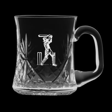 Kintyre 1 pint Tankard Engraved Cricketer (Gift Boxed) | Royal Scot Crystal