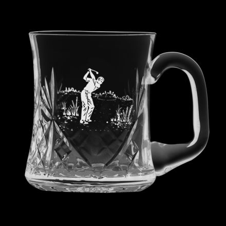 Kintyre 1 pint Tankard Engraved Golfer (Gift Boxed) | Royal Scot Crystal