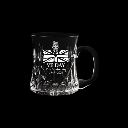 VE Day - 75th Anniversary Commemorative Kintyre Crystal Tankard - 1 Pint (Gift Boxed) | Royal Scot Crystal