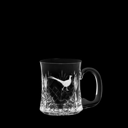 British Wildlife - Kintyre Tankard (1 pint, 56cl) engraved PHEASANT (Gift Boxed)