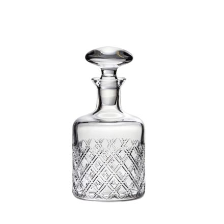 Tartan - Crystal Malt Round Spirit Decanter 225mm (Gift Boxed) | Royal Scot Crystal
