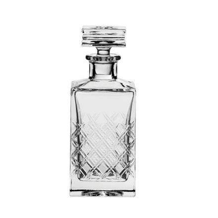 Tartan - Crystal Square Spirit Decanter 240mm (Gift Boxed) | Royal Scot Crystal