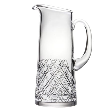 Tartan - Crystal Water/Juice Jug (2 Pints) 250mm (Gift Boxed) | Royal Scot Crystal