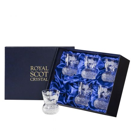 Flower of Scotland 6 Large Tumbler (Thistle Shape)  - 95mm (Presentation Boxed)   Royal Scot Crystal