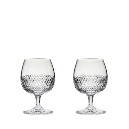 Tiara - 2 Crystal Brandy (Balloon) Glasses 132mm (Gift Boxed) | Royal Scot Crystal