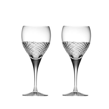 Tiara - 2 Crystal Large Wine Glasses 210mm (Gift Boxed) | Royal Scot Crystal