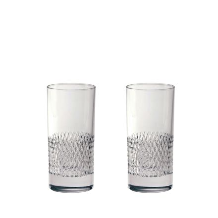 Tiara - 2 Crystal Tall Tumblers 150mm (Gift Boxed) | Royal Scot Crystal