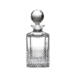 Tiara - Crystal Square Spirit Decanter 245mm (Gift Boxed) | Royal Scot Crystal