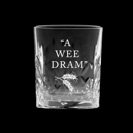 *Kintyre Tot (Shot) Glass engraved 'Wee Dram' (Gift Boxed)