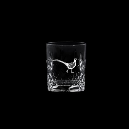 British Wildlife - Kintyre Tot (SHOT) Glass engraved PHEASANT (60mm, 6cl) (Gift Boxed)