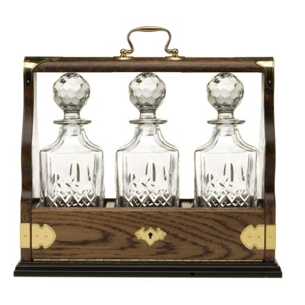 Westminster Triple Tantalus Containing 3 Square Spirit Decanters - (Gift Boxed) | Royal Scot Crystal