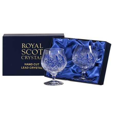 Westminster - 2 Crystal Brandy Glasses (Presentation Boxed)