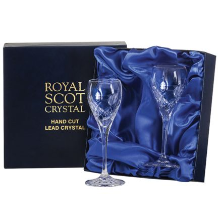 Westminster - 2 Crystal Port/Sherry Glasses (Presentation Boxed)