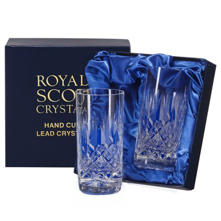 Westminster - 2 Crystal Tall Tumblers (Presentation Boxed)
