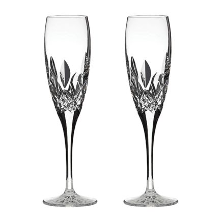 Westminster- 2 Crystal Champagne Flutes (Gift Boxed)
