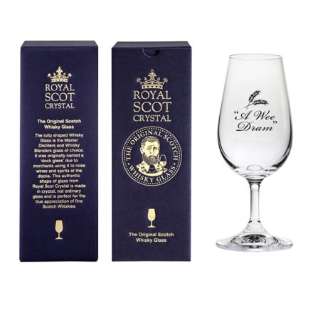 The Original Scotch Whisky Glass - A Wee Dram (stemmed) (gift boxed)