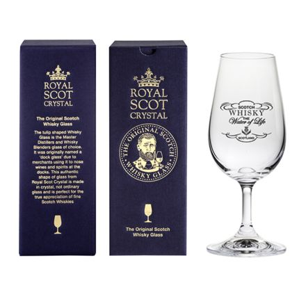 The Original Scotch Whisky Glass - Whisky the Water of Life (stemmed) (gift boxed)